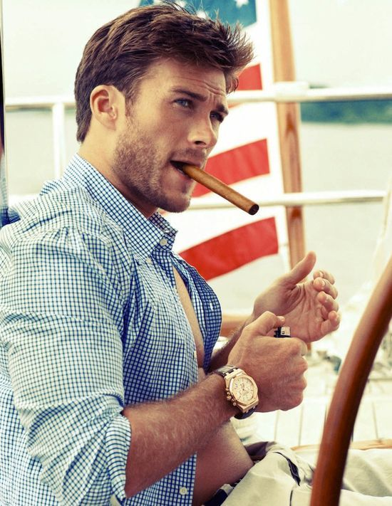 Oh wow, Clint Eastwood's son is gorgeous! Just like his dad :)