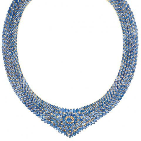 Gold and Sapphire Necklace for Sale at Auction on Tue, 12/06/2011 - 07:00 - Important Estate Jewelry | Doyle Auction House