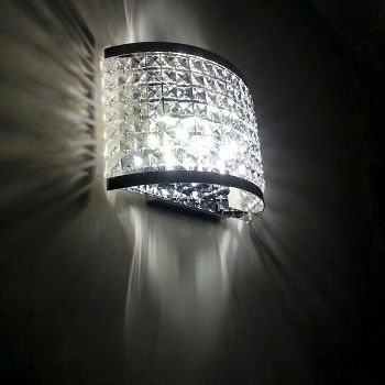 Basile design - Applique cristallo asfour realizzato su misura per una casa privata Lampada parete con quadrati in cristallo 45 x 30 cm con 6 lampadine G9 led