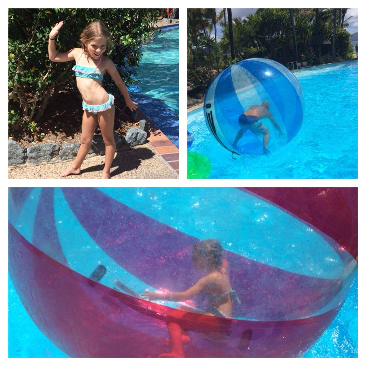 Hamster wheels or air balls huge fun for kids of all ages #hamiltonisland #affordablekidsfun