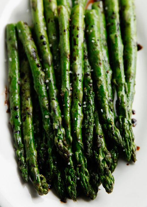 one of my favorite sidesOlive Oil, Peppers, Balsamic Vinegar Recipe, Green Veggies, Food, Grilled Asparagus, Sea Salts, Roasted Asparagus, Weights Loss