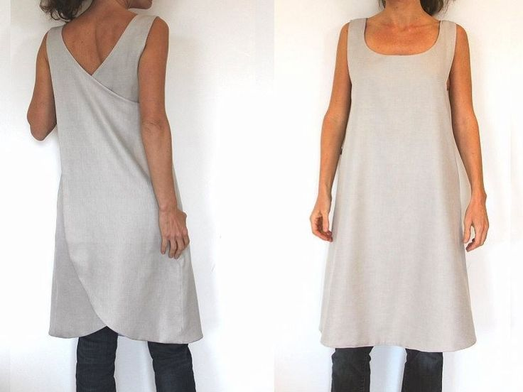 Beginner Sewing Patterns for Women | Sewing Pattern - backless reversible Tunic for woman