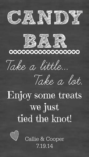 Large 24x36 Personalized Candy Bar Wedding by CreativeCarpetDesign