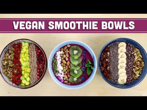 Vegan Smoothie Breakfast Bowls! - Mind Over Munch - YouTube