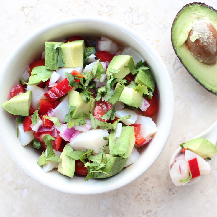 Avocado Scallop Ceviche Recipe #GlutenFree #Paleo #Healthy