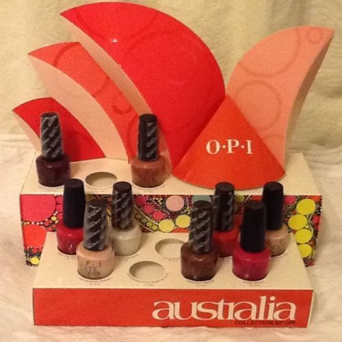 OPI-NAIL-POLISH-x-9-CARD-DISPLAY-STAND-AUSTRALIA-COLLECTION