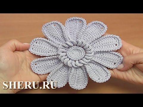Цветок с длинными лепестками Урок 111 How to Crochet Flower with Big Petals…