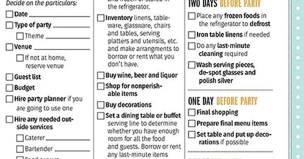 Party planning checklist, Party planning and New orleans party on Pinterest