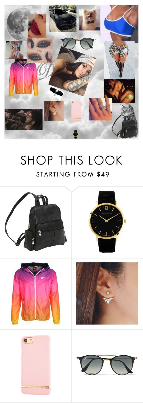 """""""me voy enamorando"""" by nikoleta-nicky-malik ❤ liked on Polyvore featuring Le Donne, NIKE, Richmond & Finch and Ray-Ban"""