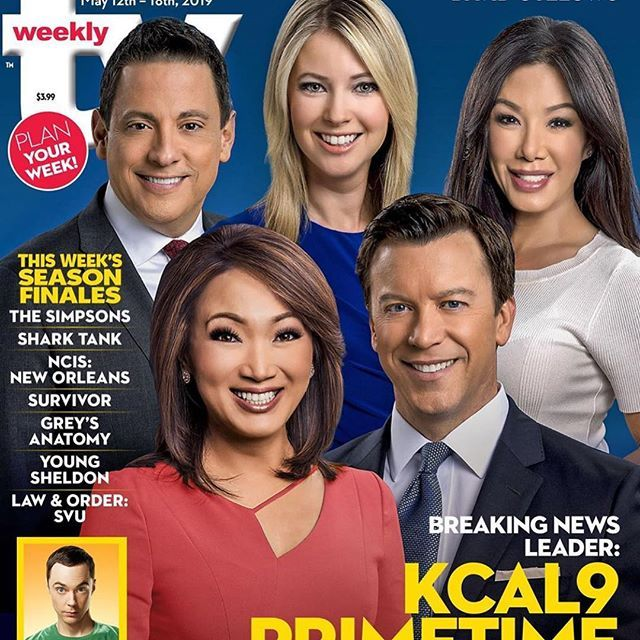 TV magazine gave the KCAL9 team an article exactly one month ago ...