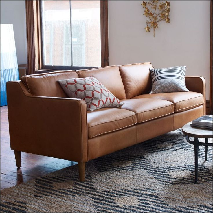 Nice Tan Leather Couch For Sale