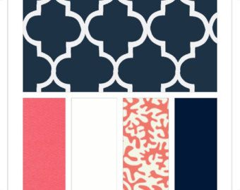 navy coral bedding - Master bedroom colours?