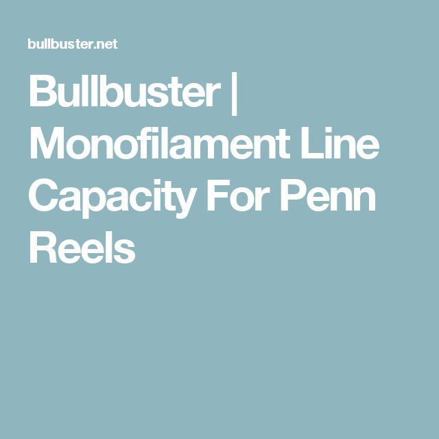 Bullbuster | Monofilament Line Capacity For Penn Reels