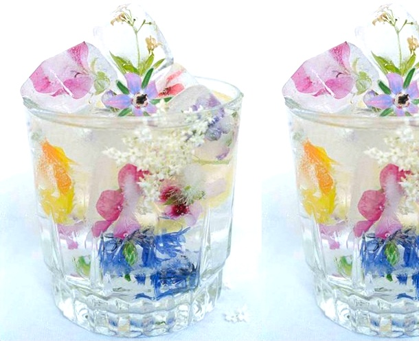 How to make FLOWER ice-cubes :)