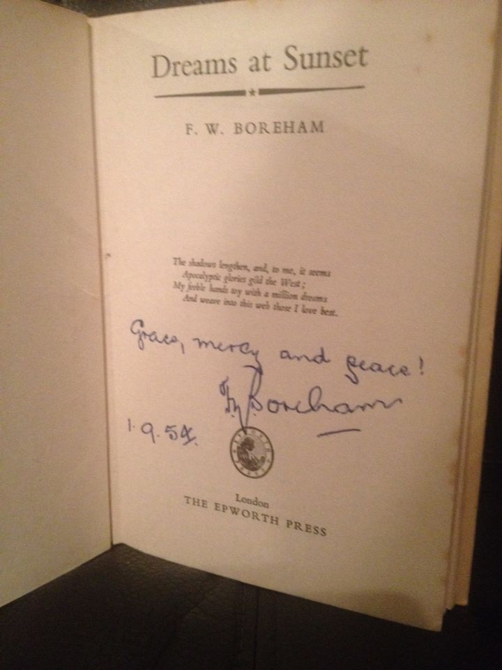 First edition signed by the great F.W. Boreham part of my large collection of signed first editions.