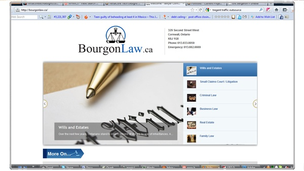 Bourgon law - Logo and site