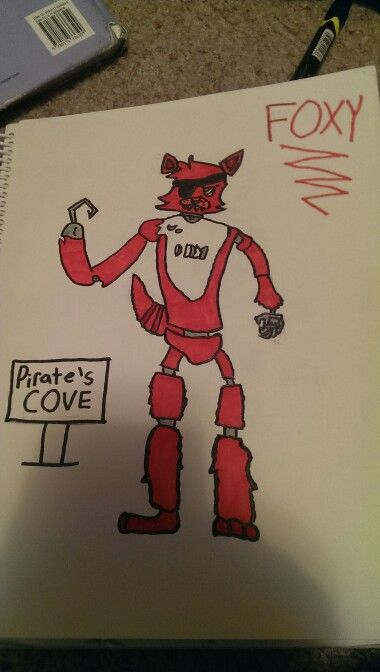 I drew this just now!! I love Foxy! He is my Favourite!! No repins! But I am making a FNAF RP board soon, if you want to be a part of it, Comment and I will try to invite you! The rules of the Board will be posted in the comments below! Thanks ya'll!!