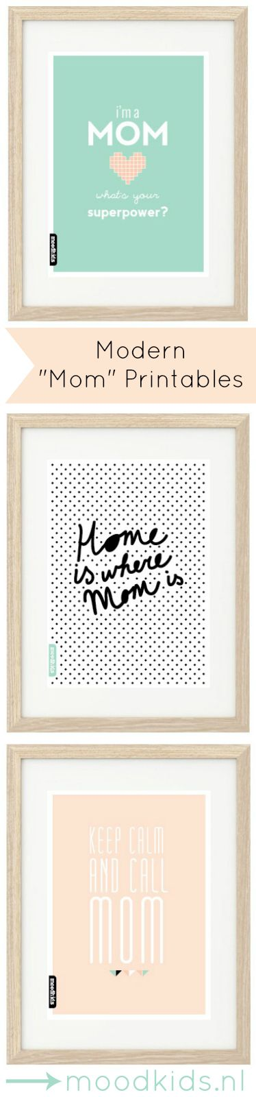 LOVE these Modern Mother's Day Printables by Moodkids