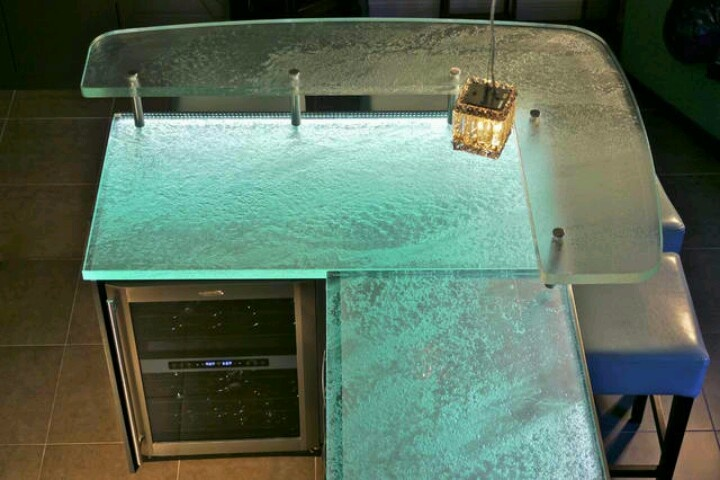 80 Best Glass Countertops Images On Pinterest Kitchens