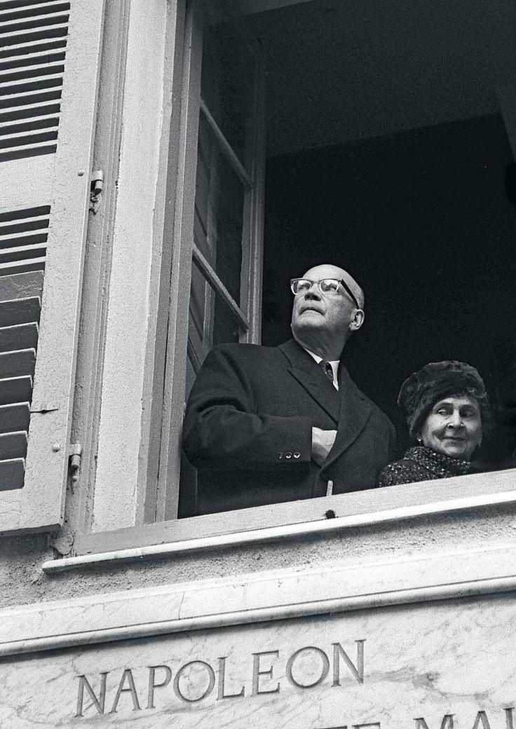 Presidentti Urho Kekkonen ja rouva Sylvi Kekkonen Ranskassa 1962.