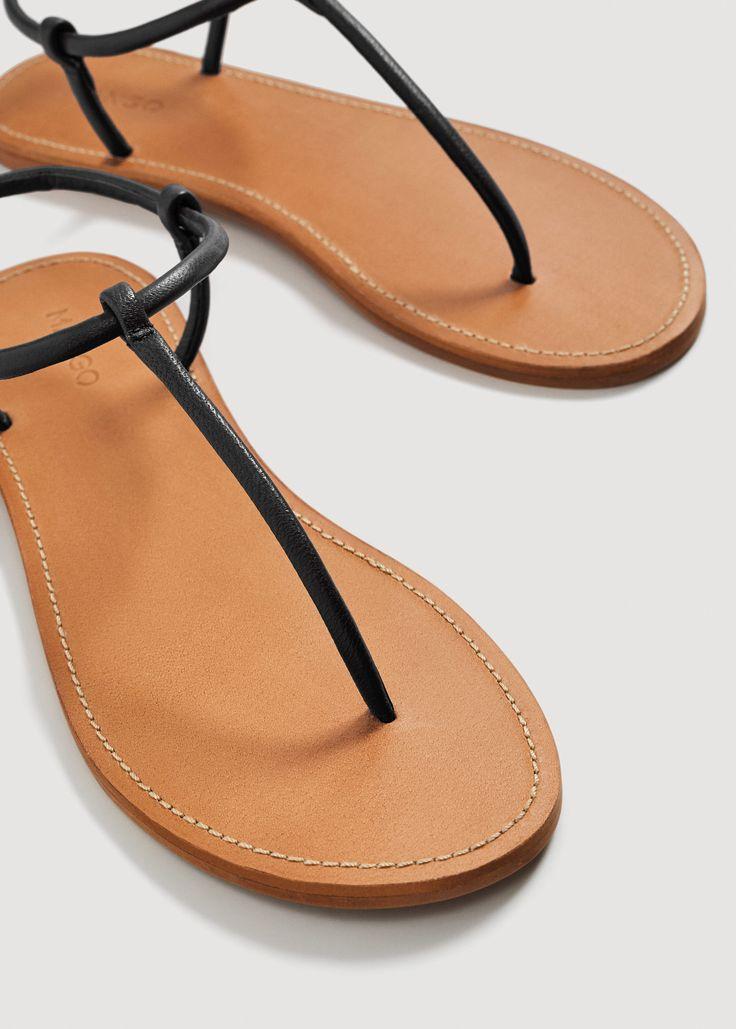 Sandalia piel tiras
