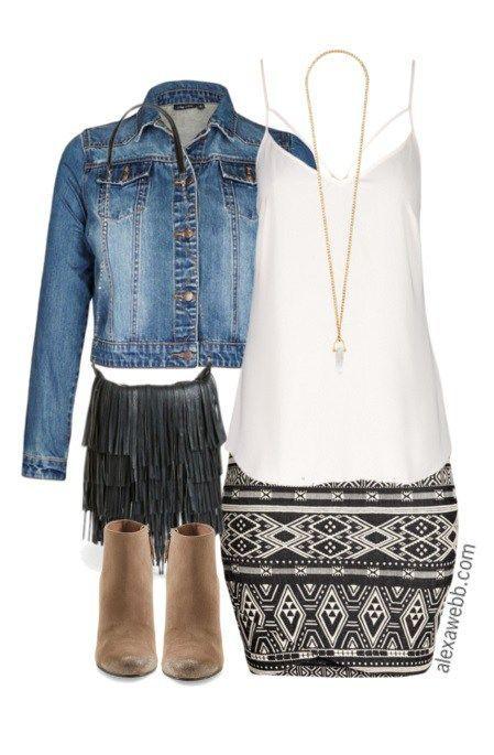 Plus Size Outfit Idea - Plus Size Tribal Skirt - Plus Size Fashion for Women - alexawebb.com #alexawebb #plus #size
