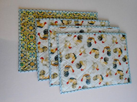 Custom Order For Alice Set Of 10 Quilted Placemats Fabric