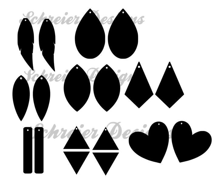 Download Earring Design Card svg png Faux Leather Earring Design ...