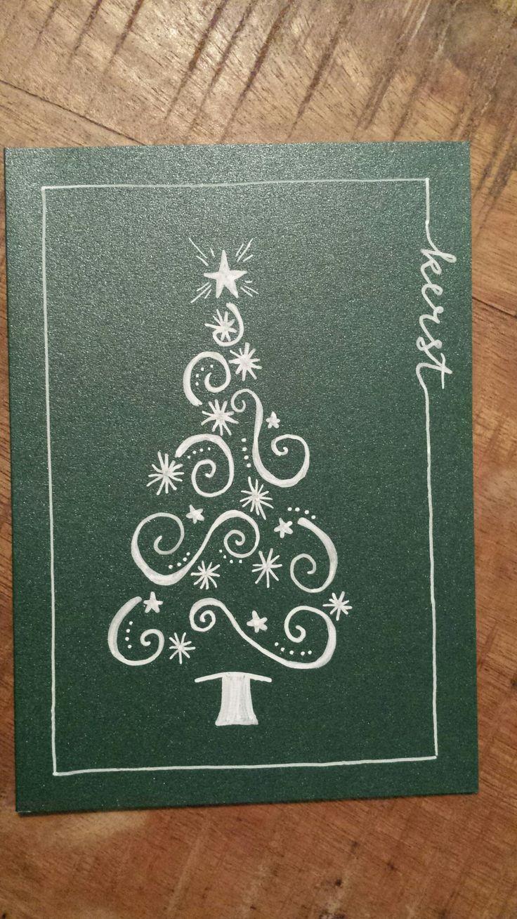 Kaarten- kerst - kerstboom