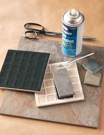 DIY Ceramic Tile Table Runner | Shelterness