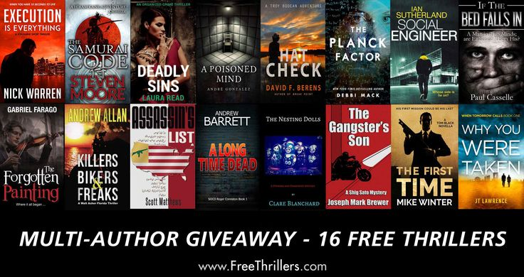 Instafreebie Multi-Author Giveaway Download 16 FREE THRILLERS Here http://FreeThrillers.com Don't miss out. The giveaways are handled via Instafreebie and are subject to their terms and conditions #instafreebie #thrillers #giveaway
