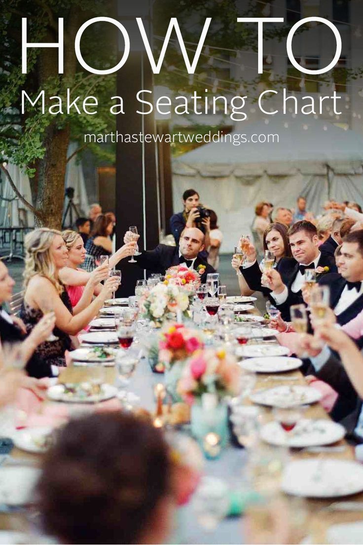 How to Make a Seating Chart | Martha Stewart Weddings