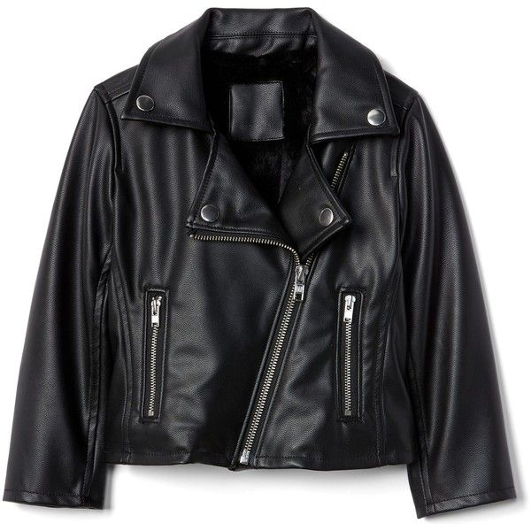 Faux leather moto jacket ($71) ❤ liked on Polyvore featuring outerwear, jackets, motorcycle jacket, fake leather jacket, moto jacket, rider jacket and leather look jackets