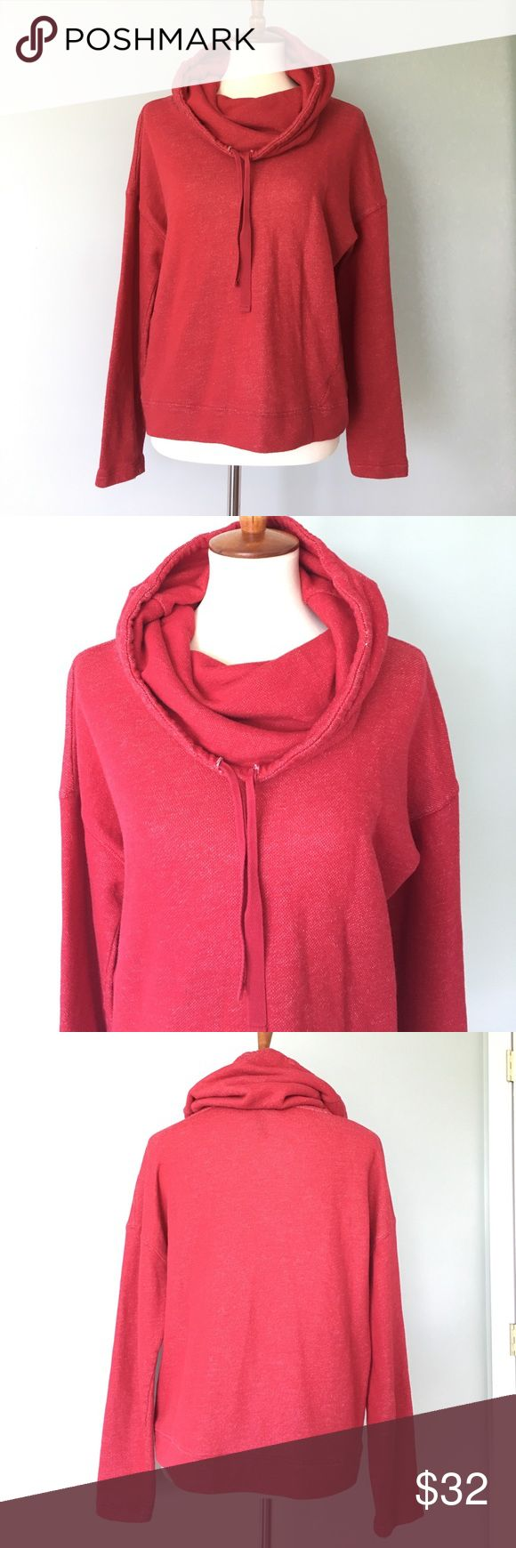 Ralph Lauren Sweatshirt super soft Red Large LRL Lauren Jeans Co. Ralph Lauren Cotton blend red sweatshirt in Large. Slouchy neck with drawstrings. In flawless condition. You can wear this all year, chilly summer nights, fall Tailgates and Christmas morning. Lauren Ralph Lauren Tops Sweatshirts & Hoodies