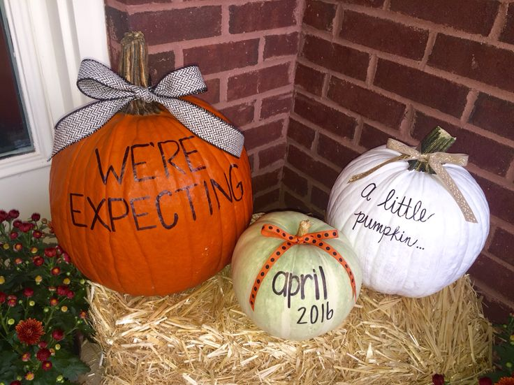 Fall Baby Announcement. We're expecting. Baby announcement. Pumpkin announcement. Maternity announcement.