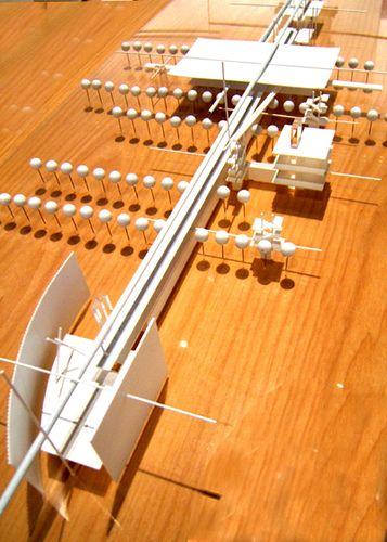 Renzo Piano's circulations diagrams of LACMA/BCAM