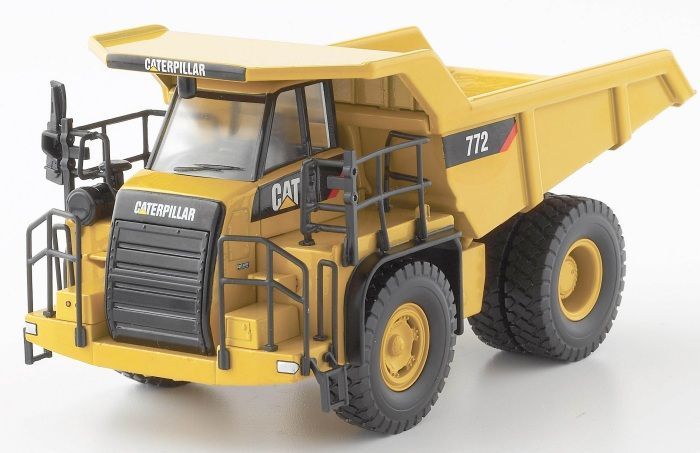 CAT 772 Off Highway Truck Diecast Model Truck by Norscot 55147 This CAT 772 Off Highway Truck Diecast Model Truck is Yellow and features working tipper body, wheels. It is made by Norscot and is 1:50 scale. #Norscot #ConstructionModel #CAT