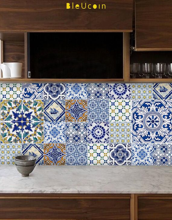 Tile decal : Portuguese style kitchen/bathroom tile decals - 44 numbers