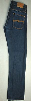 NUDIE JEANS AVERAGE JOE DRY DIRT BLUE STRAIGHT LEG ORGANIC COTTON W28 29 L31 32