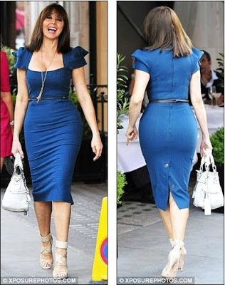 Celebrity News: Well if it ain't broke: Carol Vorderman squeezes into her favourite Roland Mouret dress