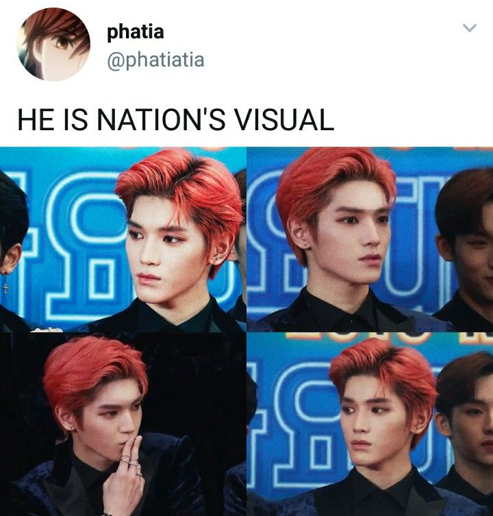 Red haired taeyong SUPERIOR #NCT #TAEYONG #MEMES #KPOP #RED #HAIR