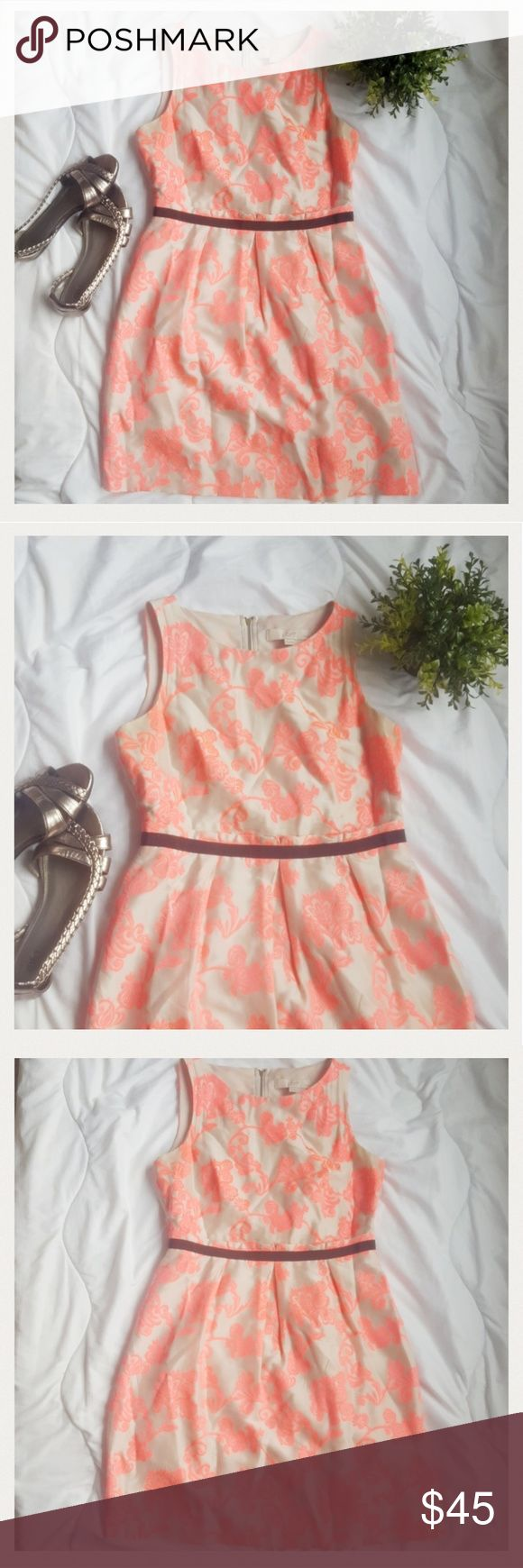 Beautiful LOFT Dress!! Stunning nude and hot pink colored summer dress by Ann Taylor LOFT. Gently used, but in good condition. Very soft and flirty. Comes from a smoke-free pet-free home. Fast shipping! NO TRADES! LOFT Dresses