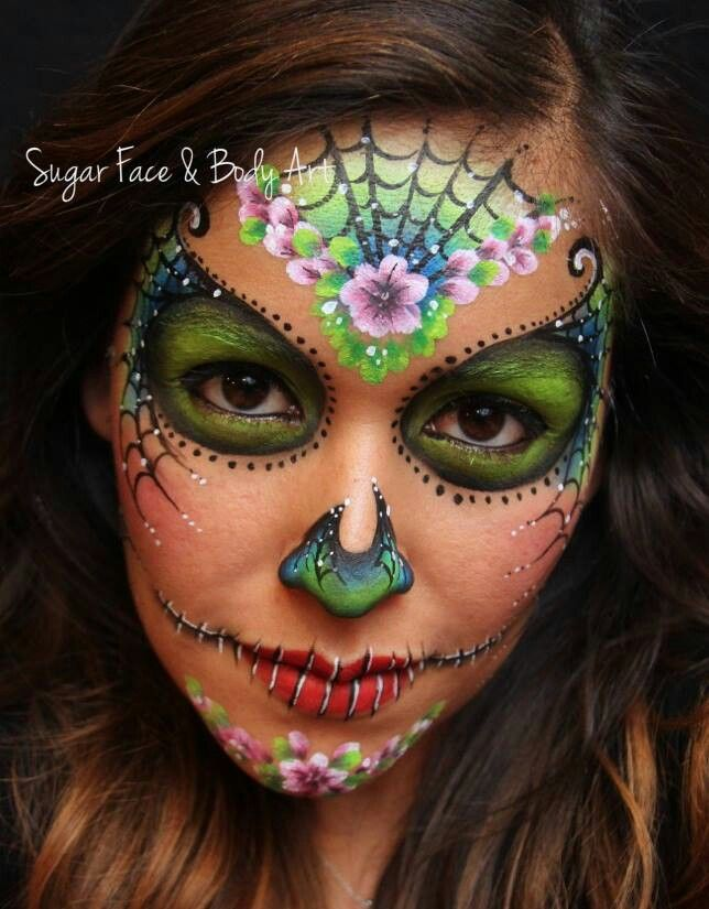 Another feminine skull Sugar Skull Halloween Day of the Dead