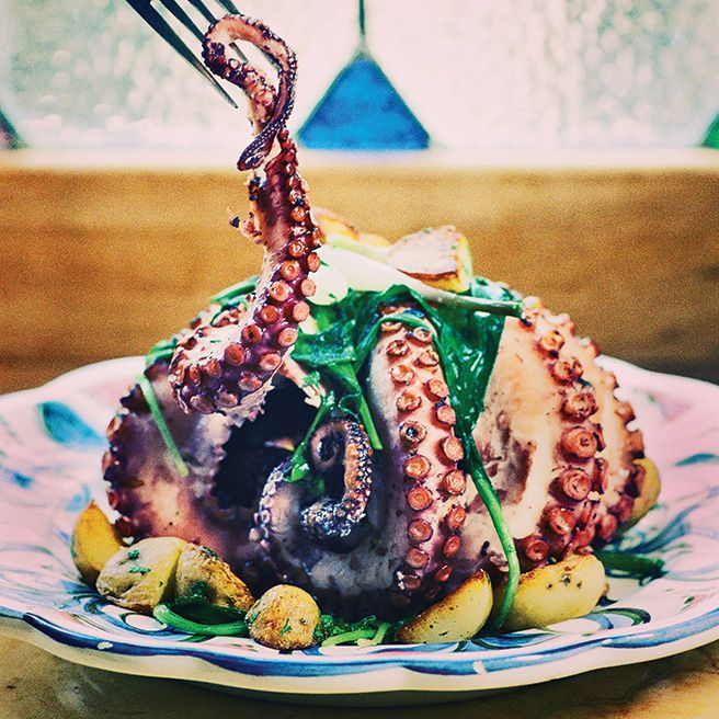 The whole grilled #octopus at Bar Isabel is a feat of slow cooking and flash-grilling