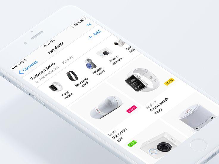 White marketplace iOS screen 💎