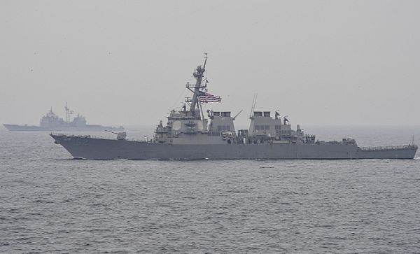 The guided-missile destroyer USS Fitzgerald (DDG 62) is underway with the Carl Vinson Carrier Strike Group