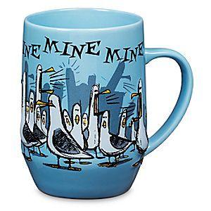 Disney Finding Nemo Seagulls Mug   Disney StoreFinding Nemo Seagulls Mug - Early birds will get the fresh coffee in this mirthful mug featuring the selfish seagulls from <i>Finding Nemo Submarine Voyage</i> at <i>Disneyland</i> Resort.