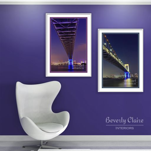 Tokyo Rainbow Bridge wall art by Beverly Claire Kaiya on http://beverlyclaire.com