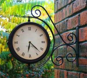 Bracket Mounted Outdoor Clock 31.5cm and Thermometer £24.95