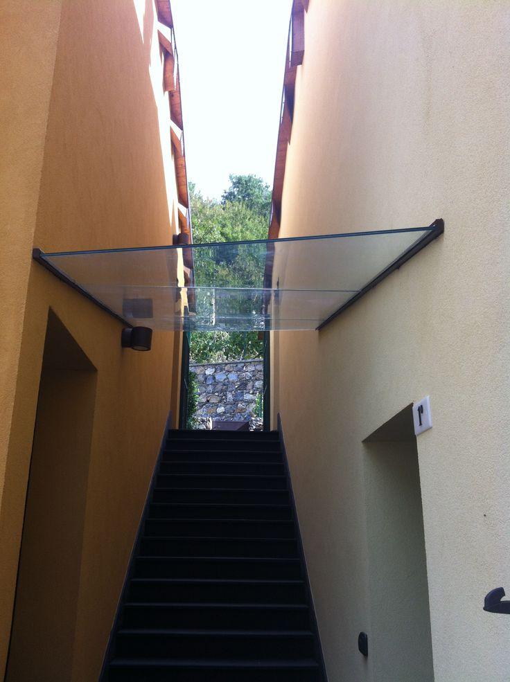 copertura scale in cristallo 66.4 temperato Genova